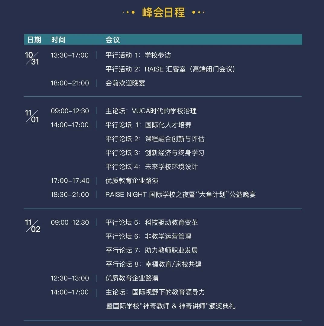 RAISE2020亚洲国际学校大会
